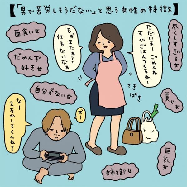 【イラストコラム】「男で苦労しそうだな\u2026\u2026」と思う女性の特徴9:Kirei Style ニュース